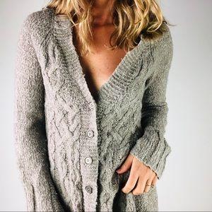 FREE PEOPLE   Wool Grey Button Down Cardigan
